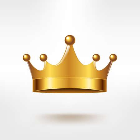 Golden Crown, With Gradient Mesh, Vector Illustration