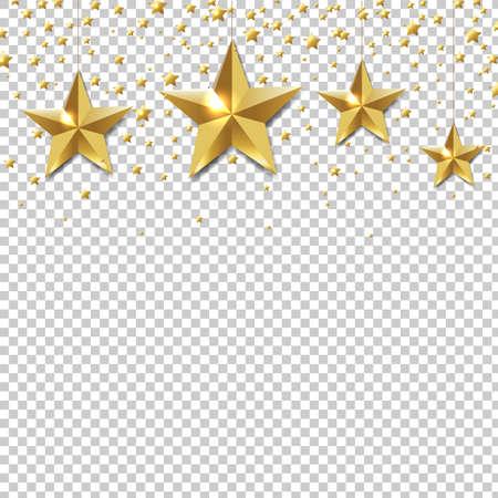 five stars: Golden Star Border transparent Illustration,