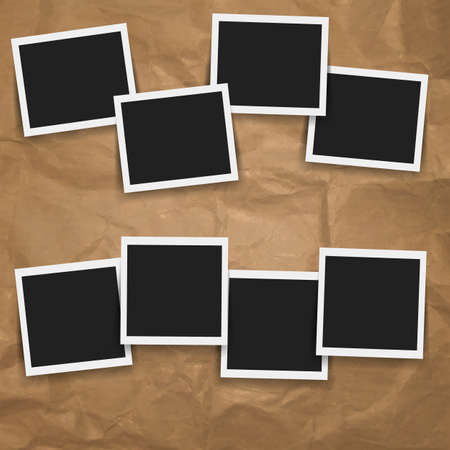 Photo Frame Sets With Gradient Mesh, Vector Illustration