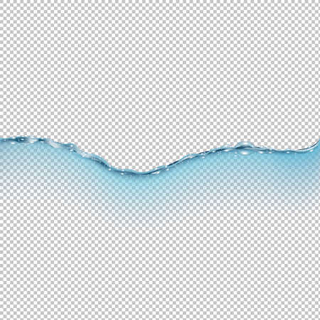 Water Wave Isolated Transparent Background With Gradient Mesh, Vector Illustration