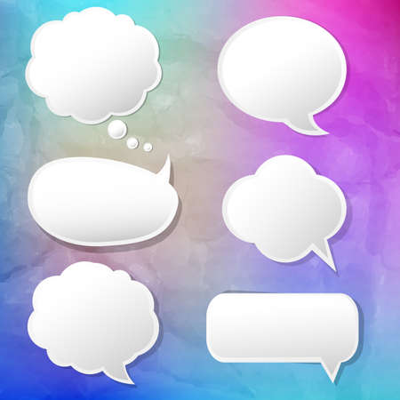 Colorful Background With Speech Bubble With Gradient Mesh, Vector Illustration