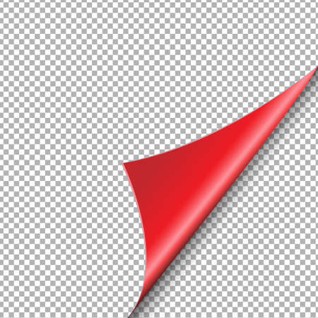 Red Corner Isolated, Vector Illustration Illustration