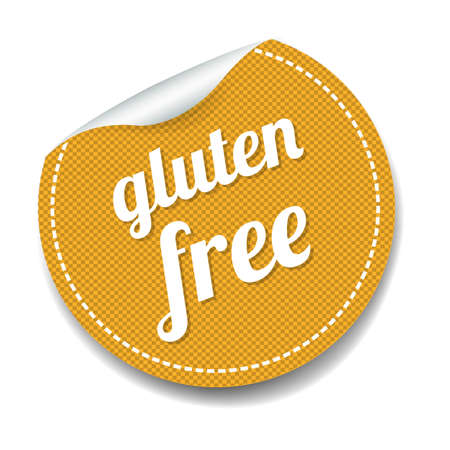 Gluten Free Label lsolated White Background With Gradient Mesh, Vector Illustration