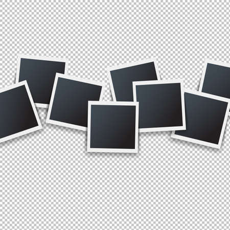 Photos Border Isolated Transparent Background With Gradient Mesh, Vector Illustration Banque d'images - 110101063
