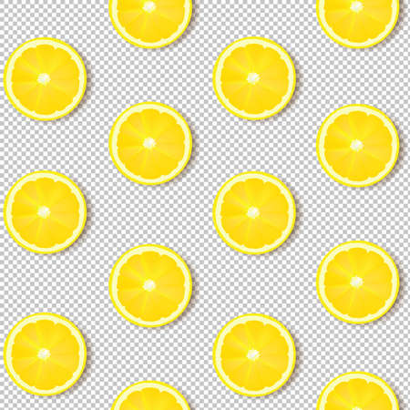 Lemon Isolated Transparent Background With Gradient Mesh, Vector Illustration
