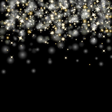 Black Christmas Background With Gradient Mesh, Vector Illustration Ilustracja