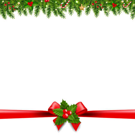 Christmas Borders Transparent Background With Gradient Mesh, Vector Illustration Ilustracja