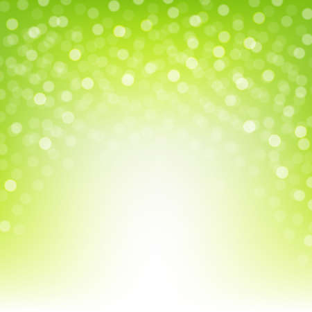 Green Nature Background With Gradient Mesh, Vector Illustration
