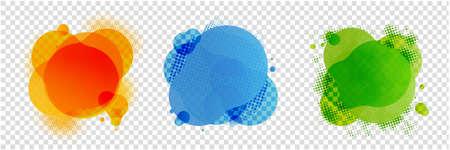 Speech Bubbles Set Isolated Transparent Background, Vector Illustration