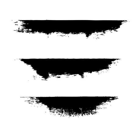 Black Blobs Isolated, Vector Illustration Illustration