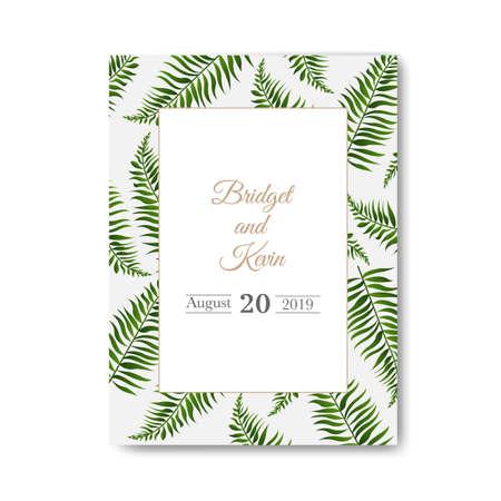 Invitación de boda aislado fondo blanco con malla de degradado, ilustración vectorial Ilustración de vector