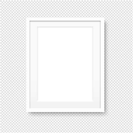 Picture Frame Isolated Transparent Background With Gradient Mesh, Illustration Illustration