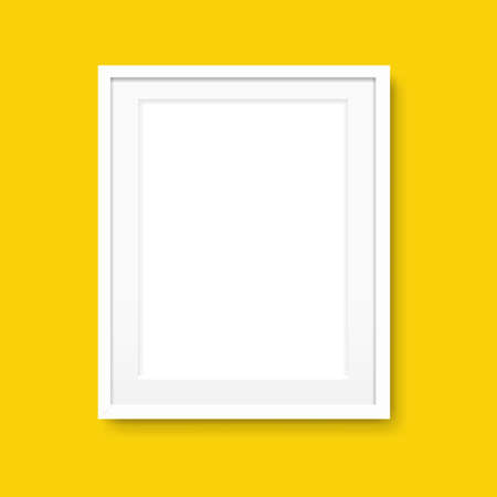 Picture Frame Isolated Yellow Background With Gradient Mesh, Illustration