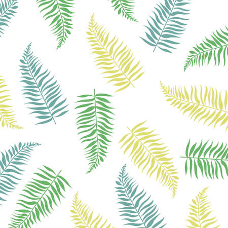 Banner With Tropical Leaves  With Gradient Mesh, Illustration Illustration