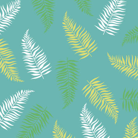 Summer Banner With Tropical Leaves With Gradient Mesh, Vector Illustration Illustration