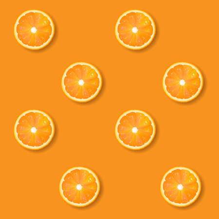 Banner With Orange With Gradient Mesh, Vector Illustration Ilustração