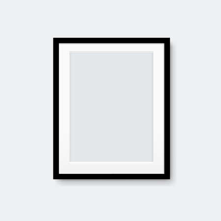 Picture Frame Isolated Grey Background