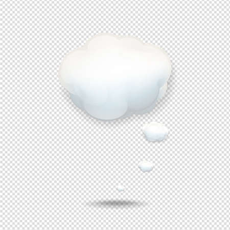Cloud Icon Isolated White Background With Gradient Mesh Illustration Ilustracja