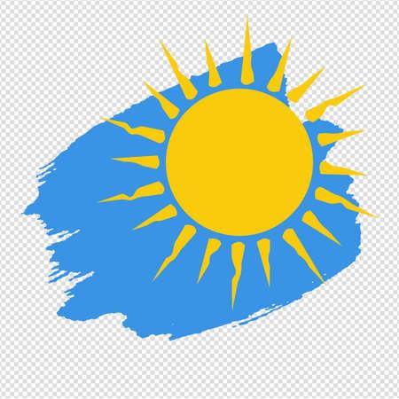 Banner Yellow Sun Blob Isolated Transparent Background Illustration