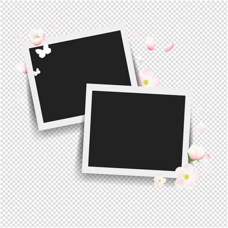 Photo With Flowers Transparent background