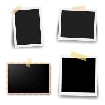 Photo Frame Collection With White Background Vektorové ilustrace