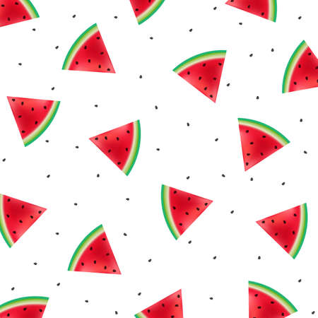 Poster With Watermelons Fruit Background