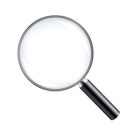 Magnifying Glass With White background Vecteurs