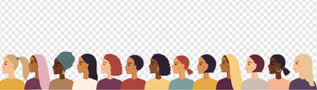 Women Of Different Nationalities Border Transparent Background