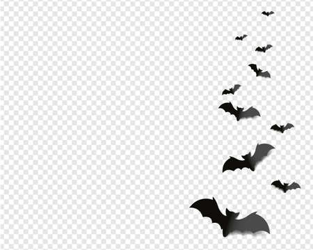 Black Bats Isolated transparent Background Illusztráció