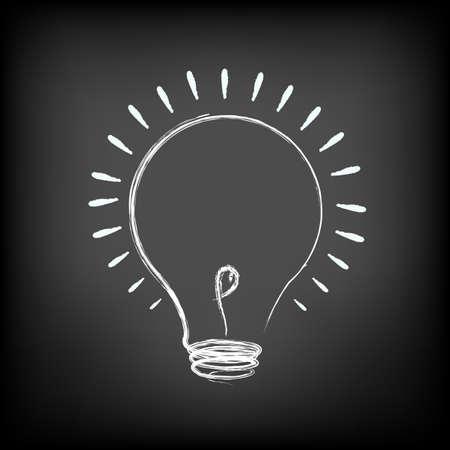 Illustration Of Idea Lamp Vektorgrafik