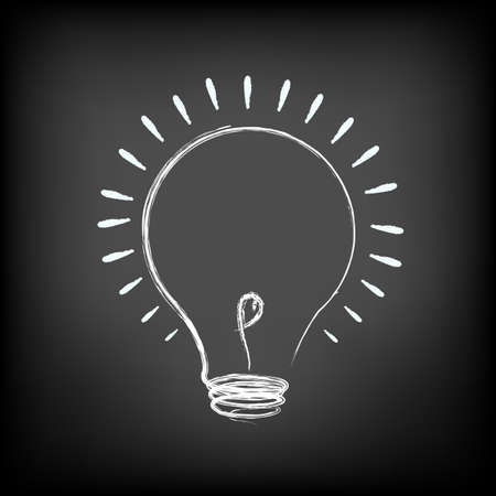 Illustration Of Idea Lamp Vetores