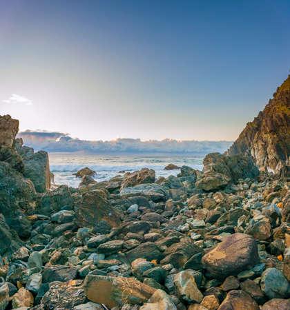 Rocky coastline at Cape Byron, New South Wales, Australia. Stok Fotoğraf