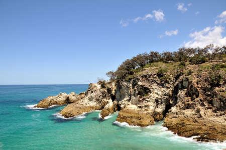 Ocean view from North Stradbroke Island (Australia) Stock Photo