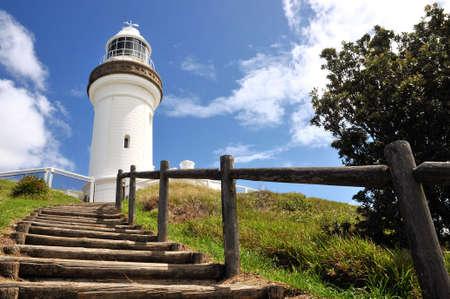 The Cape Byron lighthouse with steps (Australia)  photo