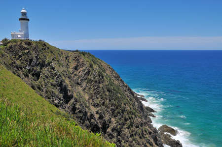 Ocean view with the Cape Byron lighthouse (Australia) Stock Photo - 9836428