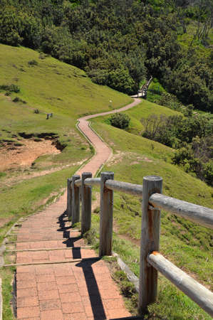 byron: Walking path at Cape Byron, Australia