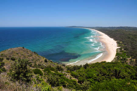 byron: Beach view at Byron Bay, Australia