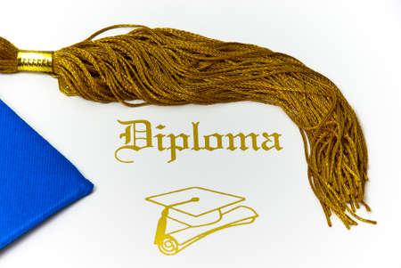 academia: Diploma and Tassle with Cap