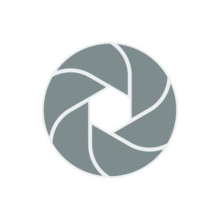 iris diaphragm camera shutter icon