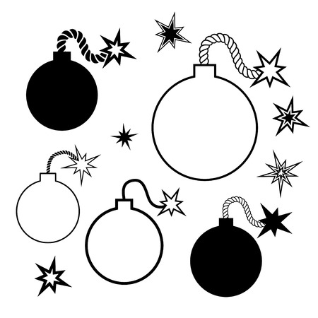 bomb icon, isolated vector illustration on a white background Vector