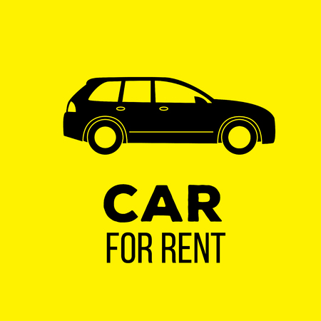rent: car for rent icon. vector graphic illustration