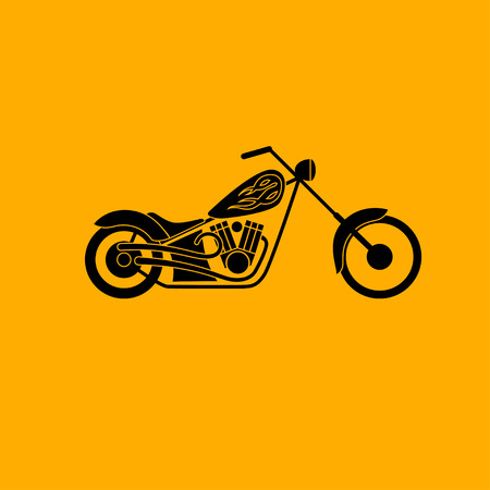 handlebar: motorbike low rider icon, vector illustration logo