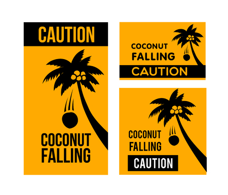 Falling coconuts caution