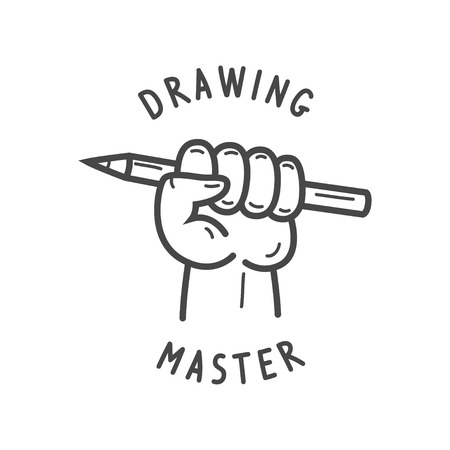 fist holding a pencil