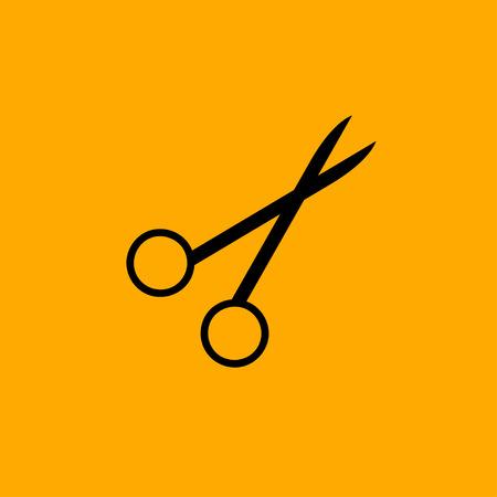clip art cost: Scissors symbol icon isolated on white background Stock Photo