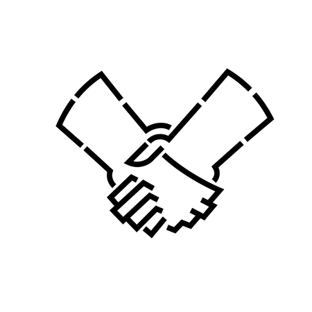 handshakes: handshakes stencil  , isolated vector design art