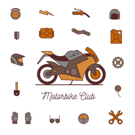 motorway: motorcycle icon vector, solid logo illustration, isolated on white Stock Photo