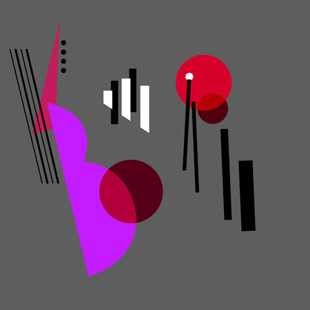 Constructive art abstract design for Jazz music. Illustration