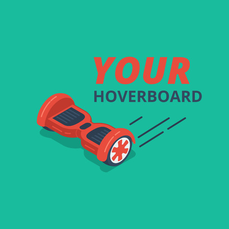 Red color hoverboard
