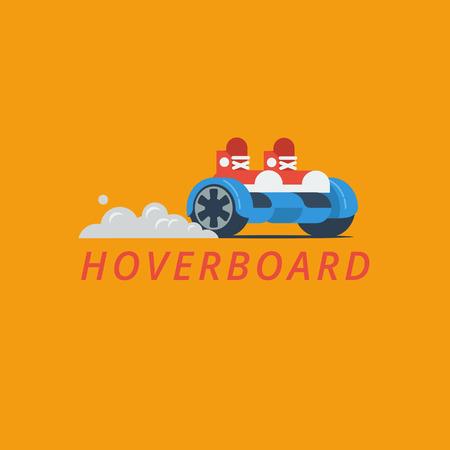 Hoverboard vector illustration.